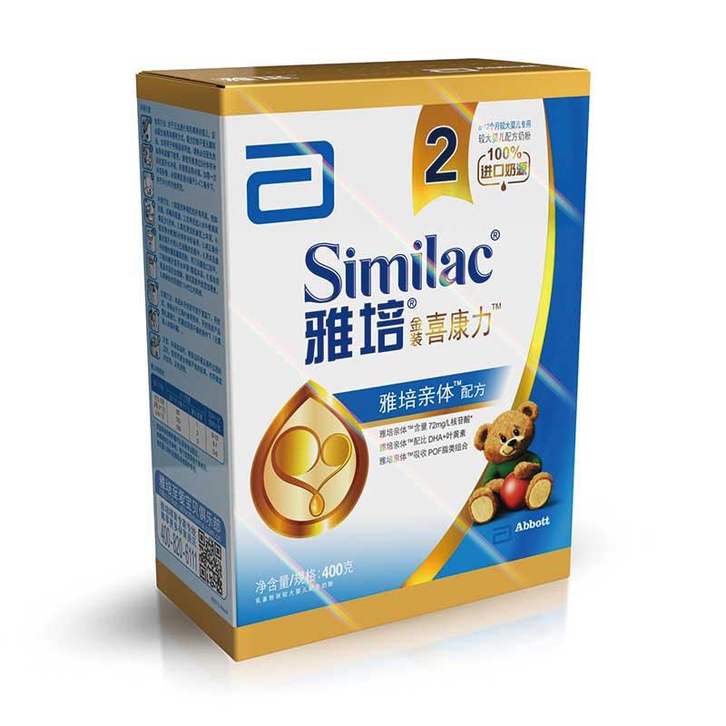 雅培亲体Similac进口奶源金装喜康力2段400g盒装