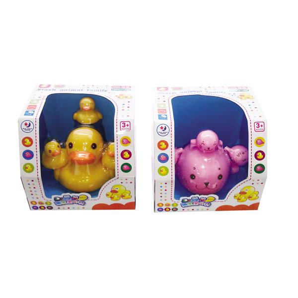 海宝宝闪光动物家庭 洗澡玩具
