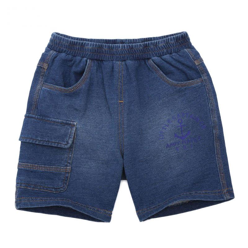 歌瑞家A类男童蓝色针织牛仔短裤