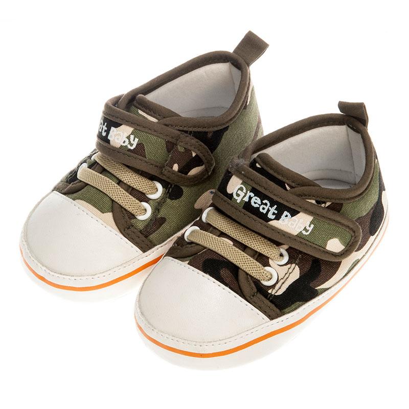 歌瑞贝儿男婴迷彩宝宝鞋GB153-005SH绿11cm双