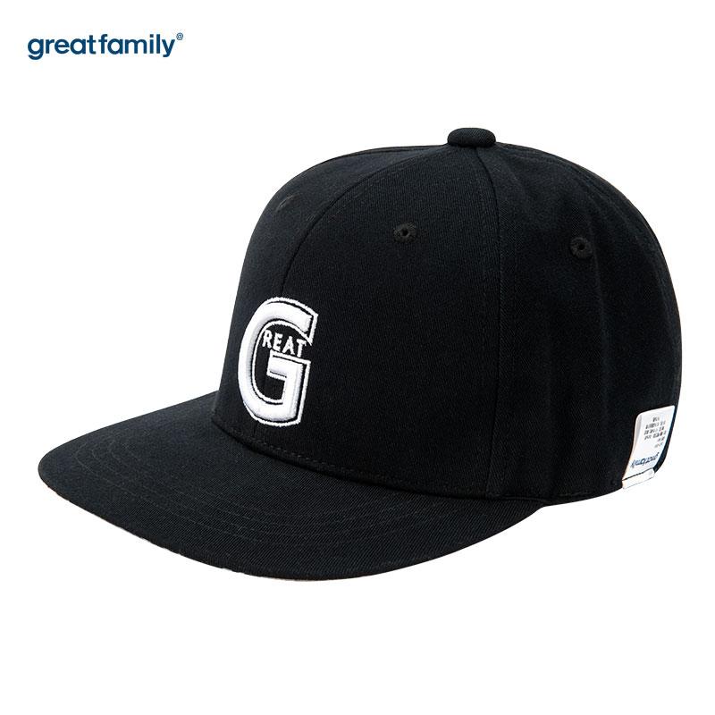 歌瑞家(Greatfamily)A类男童黑色平沿帽