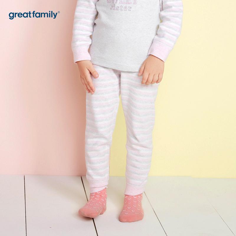 歌瑞家(Greatfamily)A类女童混色舒绒长裤/家居裤
