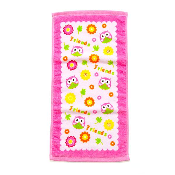 歌瑞贝儿(新)--小鸟割绒印花面巾GB130-246粉混码