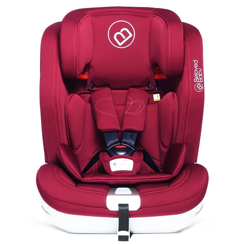 贝适宝(belovedbaby)简博士儿童汽车安全座椅典雅红车载儿童座椅9-36kg