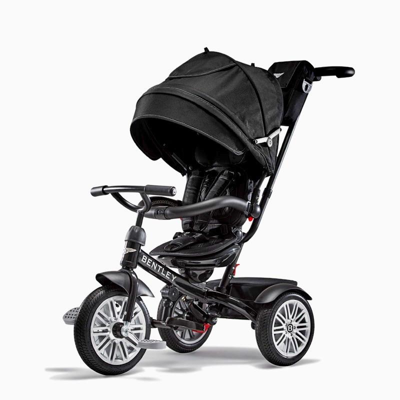Bentley宾利儿童多功能三轮推车 黑色