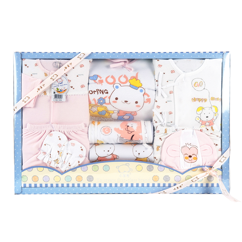 小豆壳(新)--高级服饰礼品盒9件套J-926粉混码CM盒