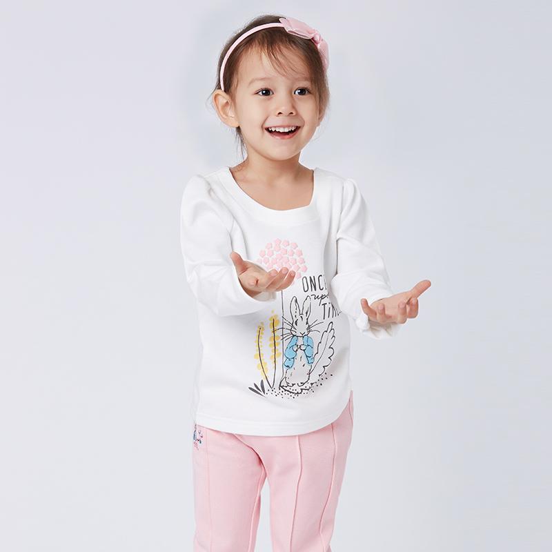 歌瑞家greatfamilyPeterRabbitA类白女童长袖T恤