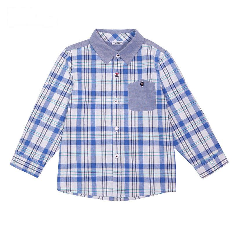 歌瑞家A类男童格子衬衫