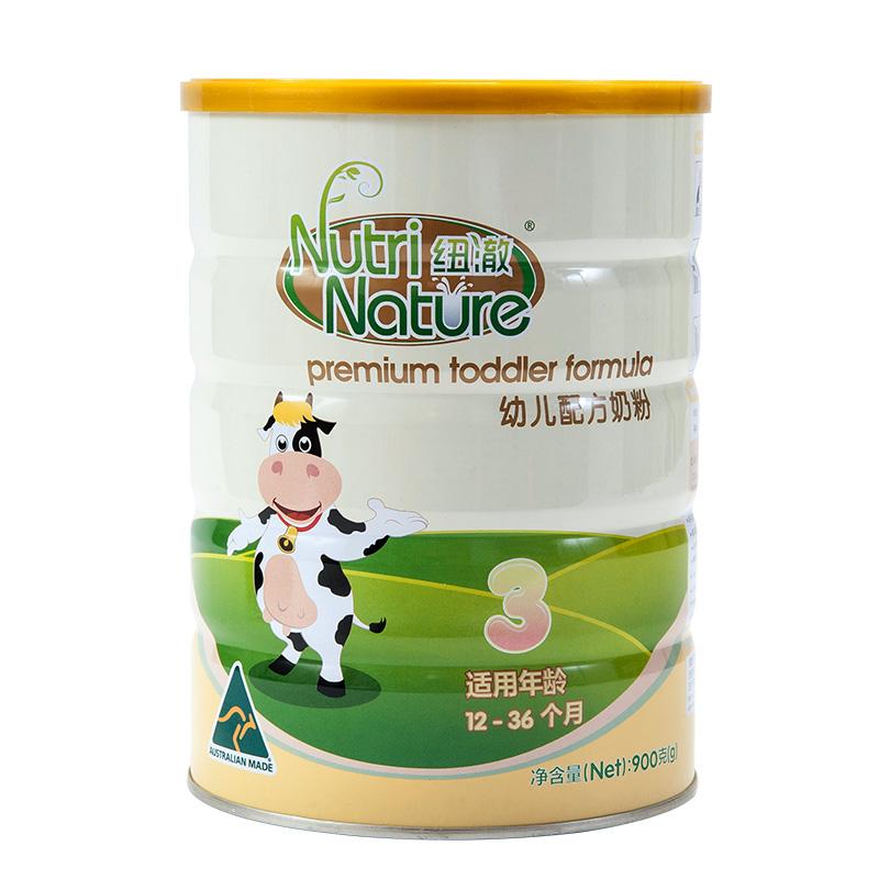 纽澈NutriNature幼儿配方奶粉3段12至36个月900g澳大利亚原装进口