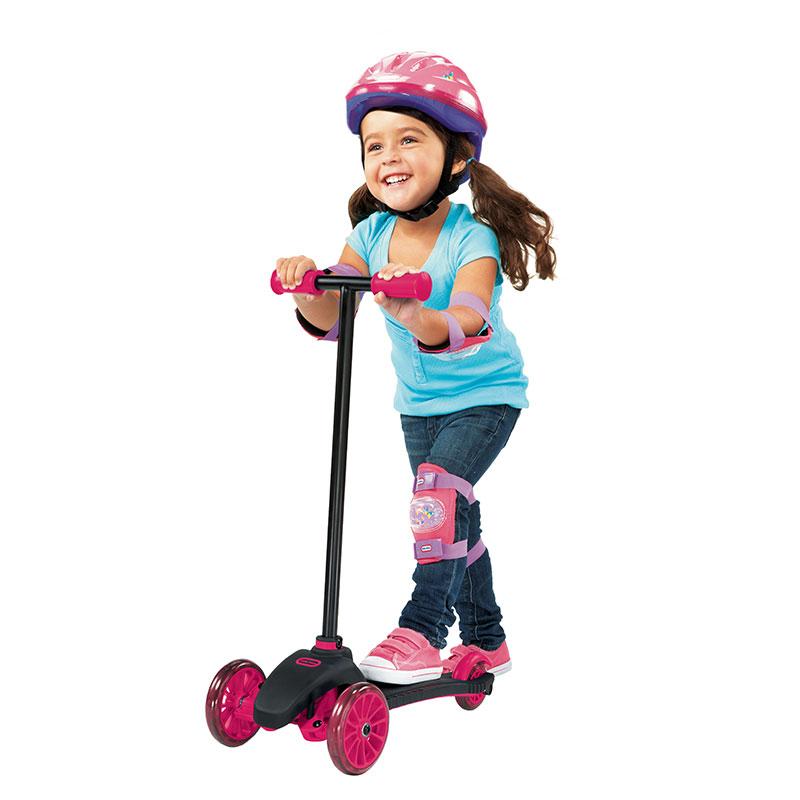 小泰克(Littletikes)儿童三轮滑板车(粉红色)