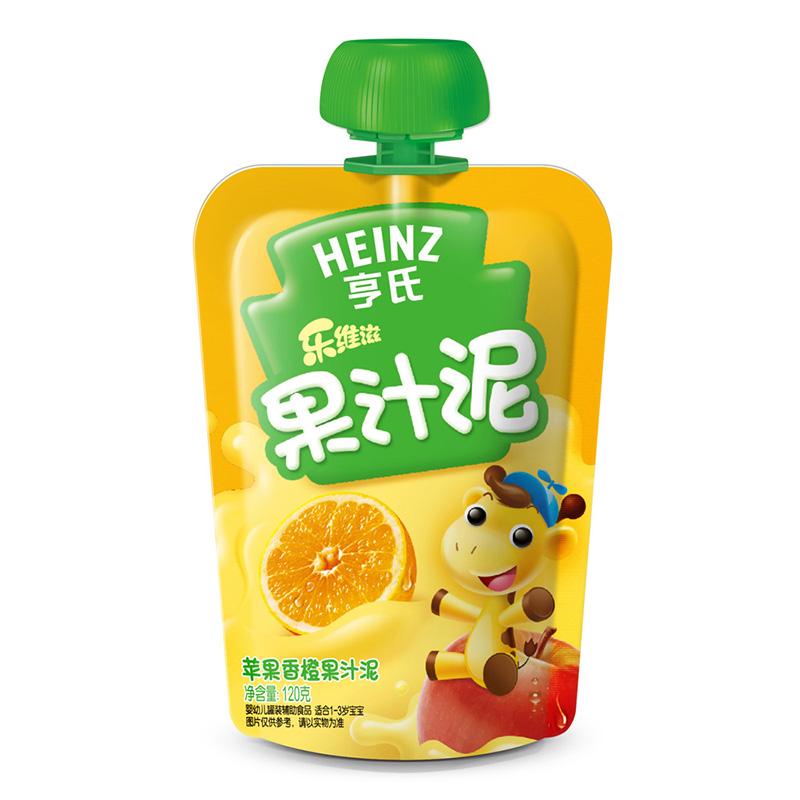 亨氏Heinz乐维滋果汁泥苹果香橙120g富含维生素C
