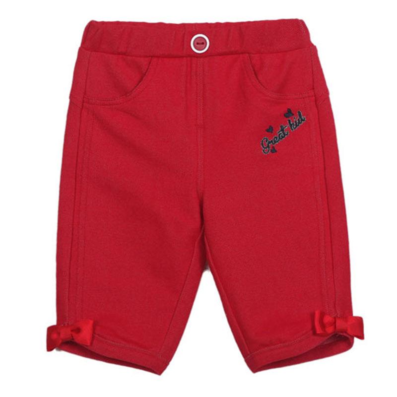 歌瑞凯儿A类女童针织牛仔五分裤二色可选
