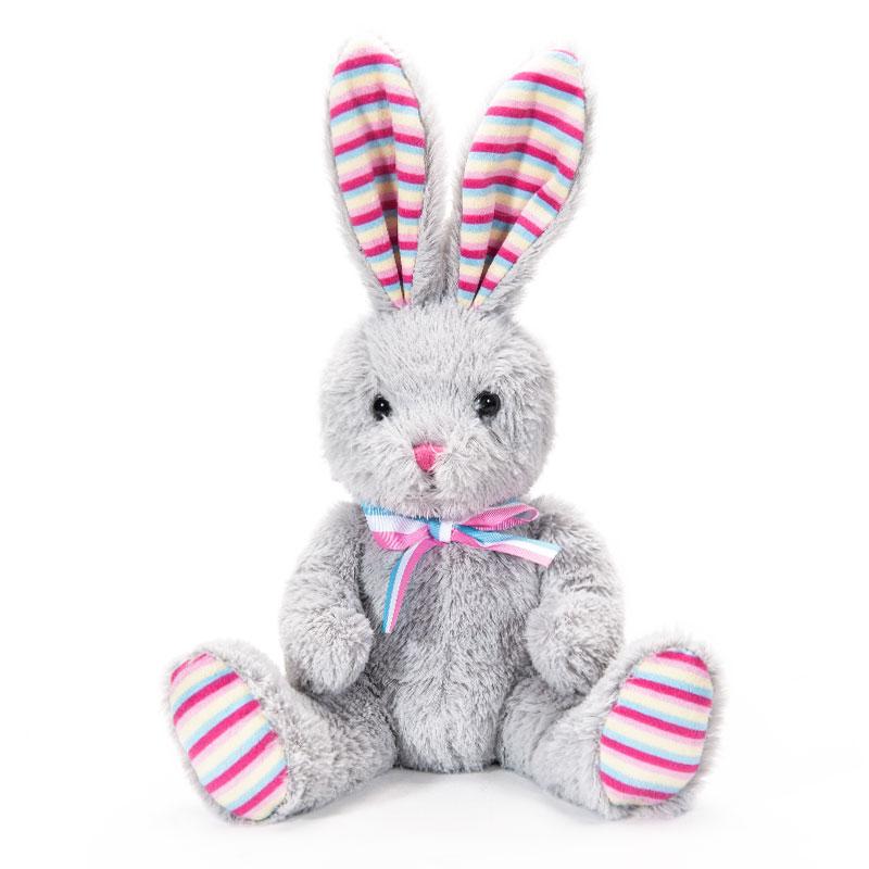 字母毛绒玩具兔子灰色