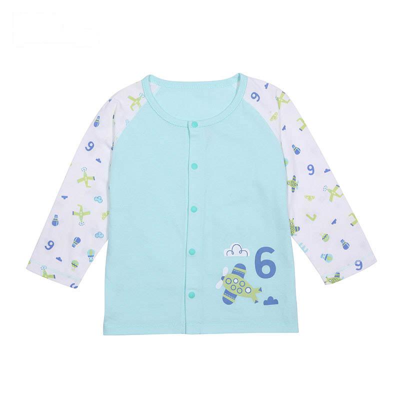 歌瑞贝儿A类男女宝宝单面布对襟上衣2色可选