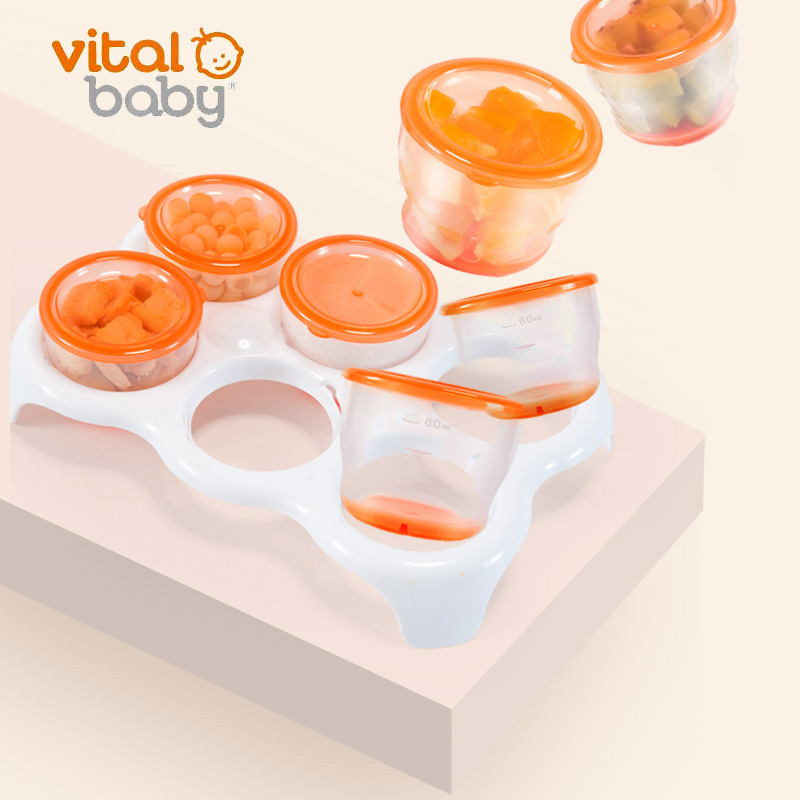韦特儿Vitalmini冷冻软底存储盒托盘套装安全PP材质不含双酚A
