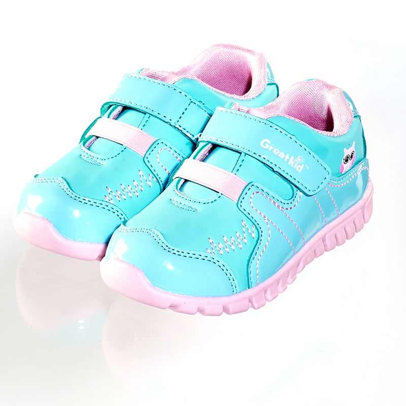 歌瑞凯儿(新)--超凡机能鞋(女婴儿鞋)GK143-011SH蓝15CM