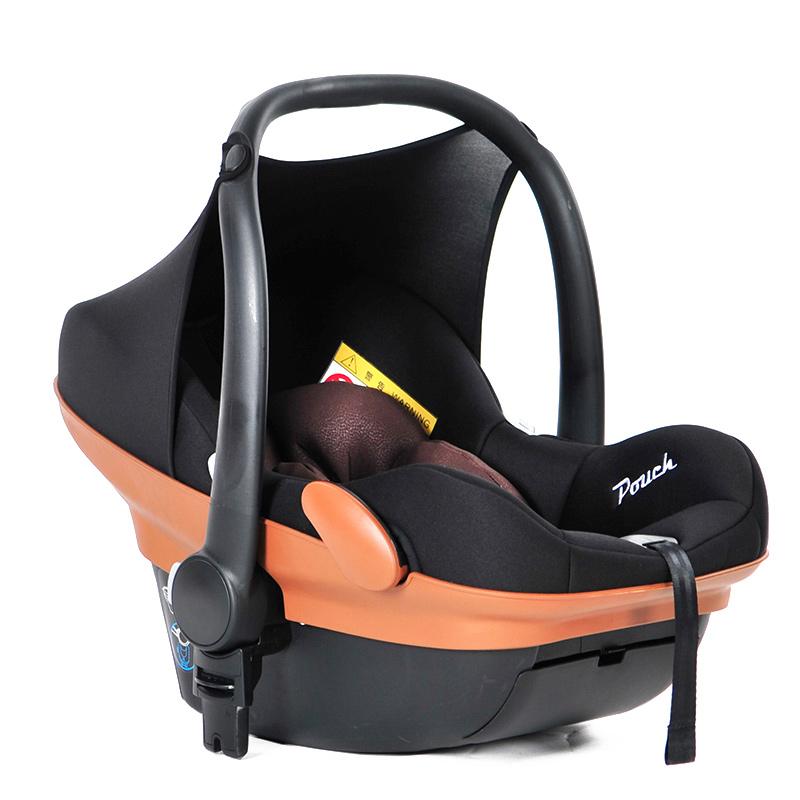 Pouch婴儿提篮婴儿睡篮摇篮新生大空间汽车安全座椅德国品质车载Q17 橙色