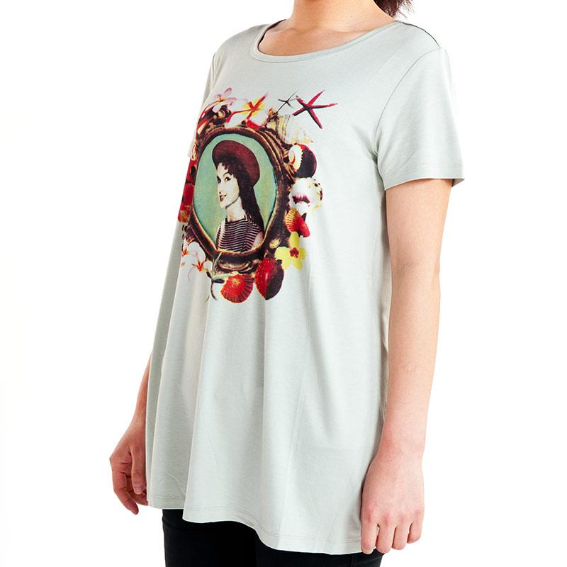 歌瑞妈妈(孕外)--印花T恤GM131-036TT绿L