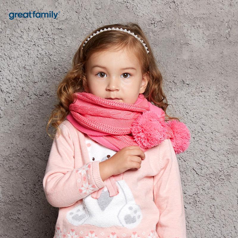 歌瑞家(Greatfamily)A类女童玫粉色围巾