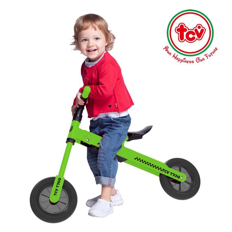【乐海淘】台湾TCV折叠式儿童平衡滑步车T700 浅绿 海外直邮