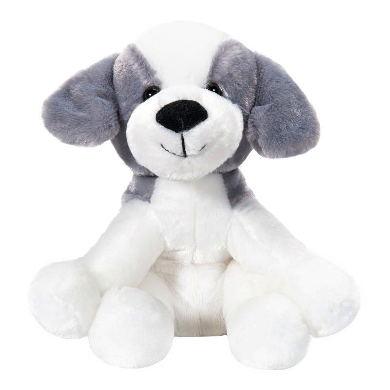 字母毛绒玩具狗白灰色
