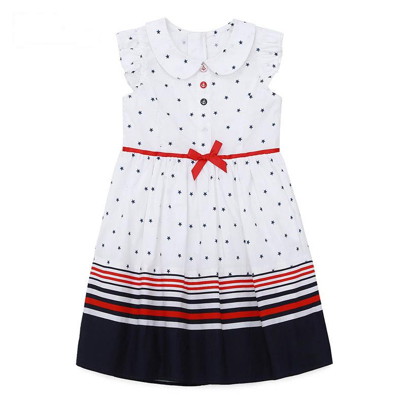 歌瑞家A类女童白色梭织连衣裙