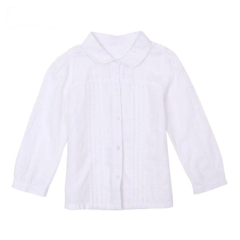 歌瑞家A类女童棉麻衬衫两色可选