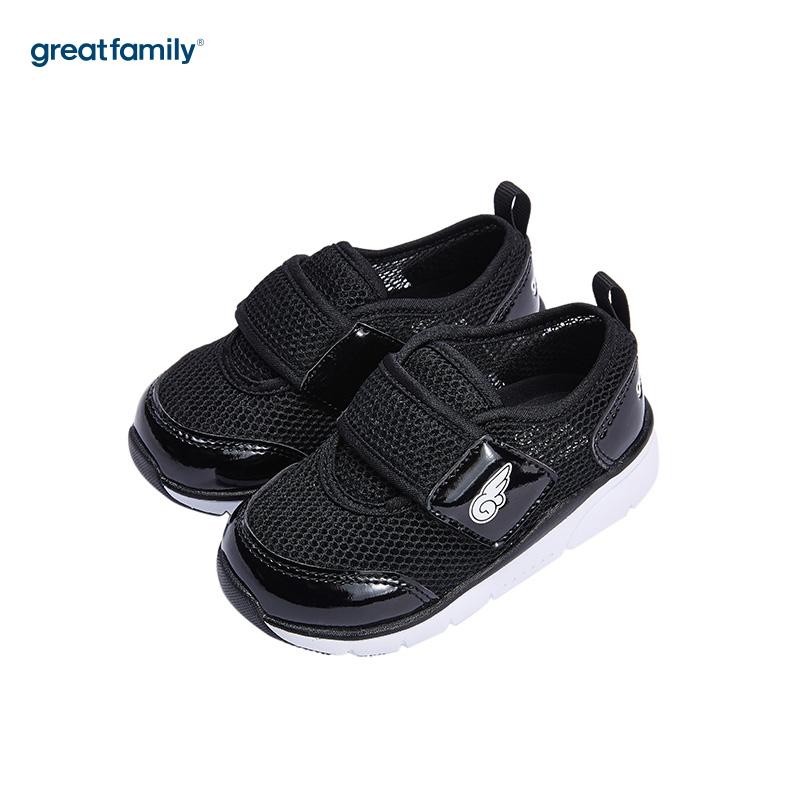 歌瑞家(greatfamily)男婴运动鞋GK182-003SH黑14CM双