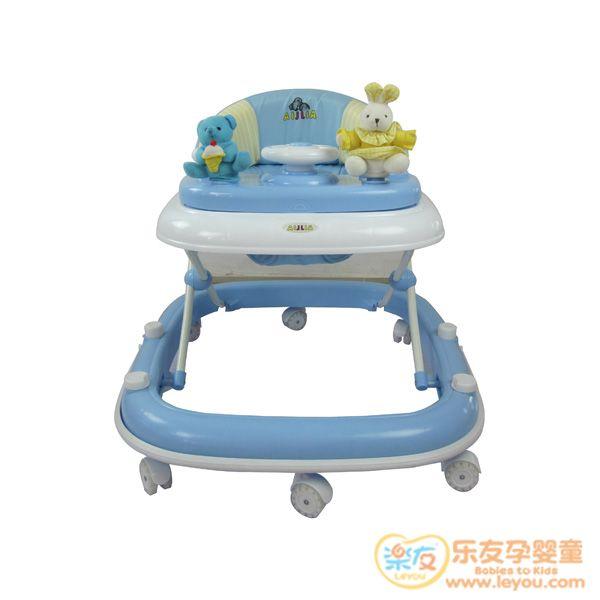 爱丽儿高安全舒适型学步车SW600蓝色收纳方便清洗容易减震功能