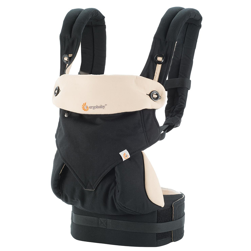 美国Ergobaby多功能四式360婴儿背带(黑/驼色)明星同款 Ergobaby Four Position 361 Baby Carrier Black/Camel