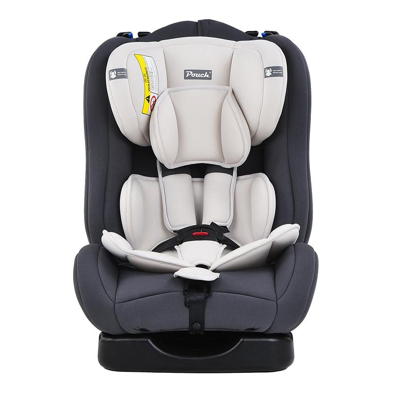 Pouch适用0-4-6岁宝宝便携式儿童安全座椅Q18-1灰色