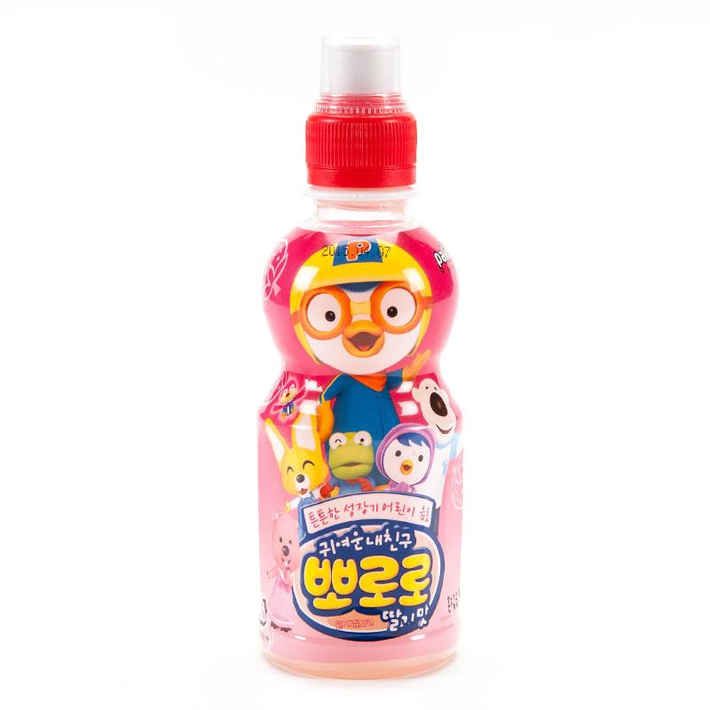 啵乐乐草莓味饮料235ml瓶