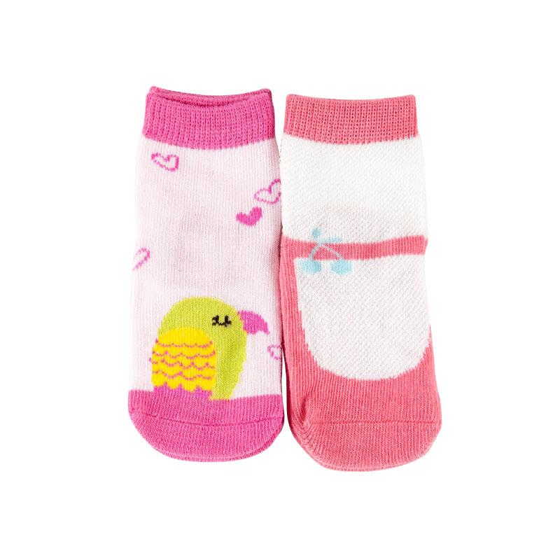 歌瑞家greatfamily图案系列女童平纹短袜(2双装)