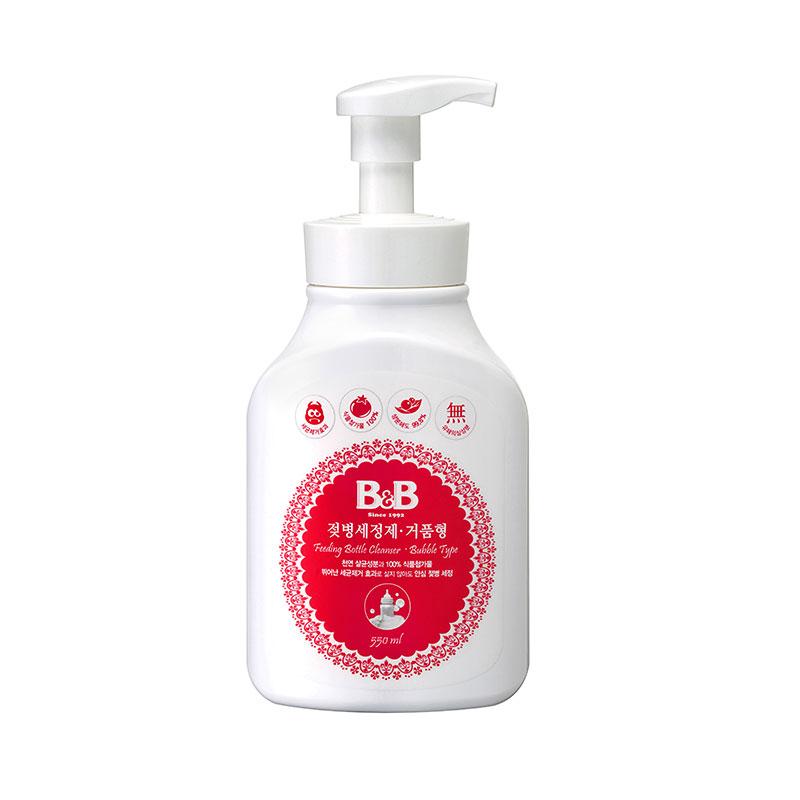 保宁B&B韩国进口宁奶瓶清洁剂泡沫型550ml专用清洁奶瓶喷射泡沫
