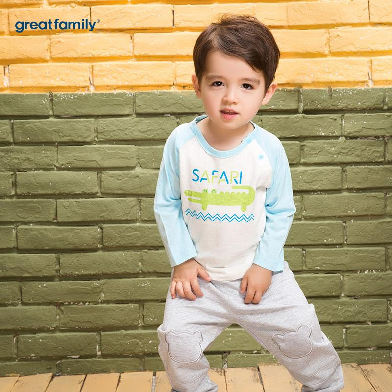 歌瑞家(Greatfamily)A类男宝宝白色纯棉T恤