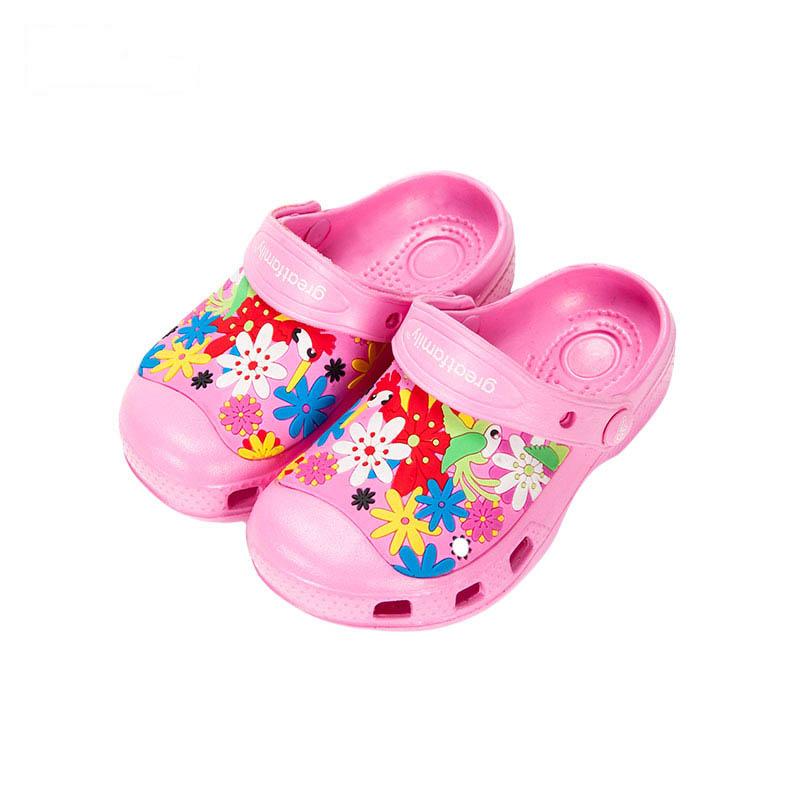 歌瑞凯儿女婴色彩拖鞋GK162-015SH粉16cm双