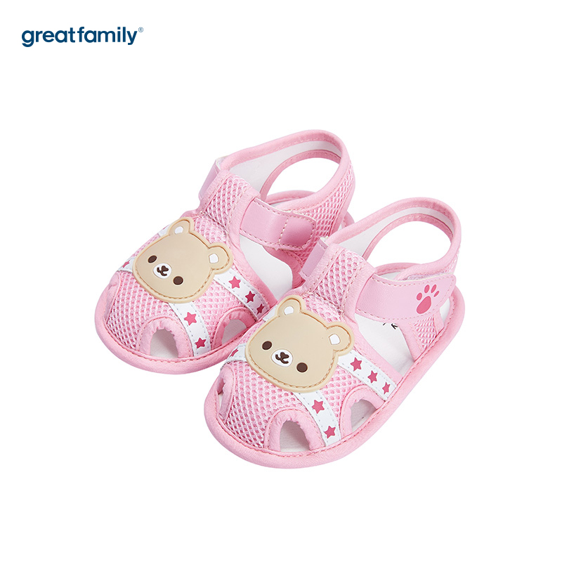 歌瑞家(greatfamily)女婴可爱动物宝宝鞋GB182-005SH粉11CM双
