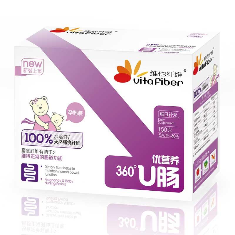 维他纤维 成人孕妇适用 天然水溶性果蔬膳食纤维粉 5g*30条