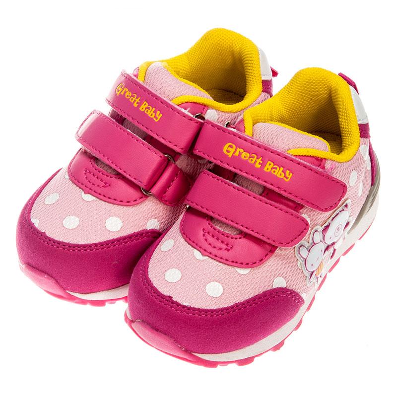 歌瑞贝儿女婴卡通运动鞋GB153-010SH梅红14cm双