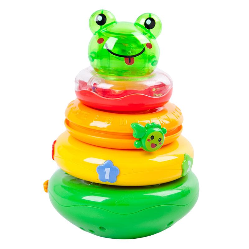 玛力(MALI-TOYS)青蛙启智叠叠乐彩色T8108