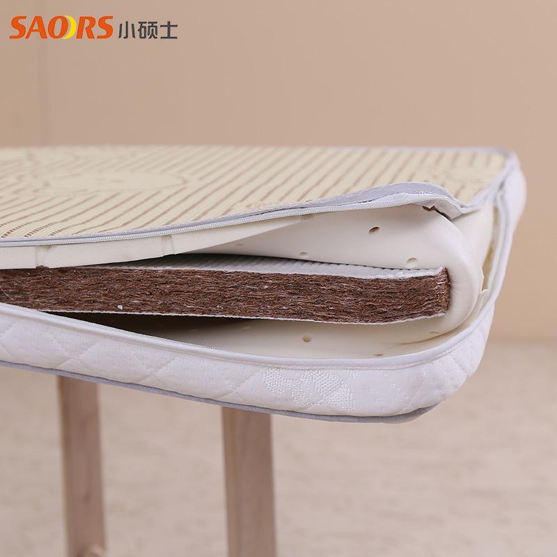 小硕士全棉防螨床垫带凉席面冬夏两用1050*600*50