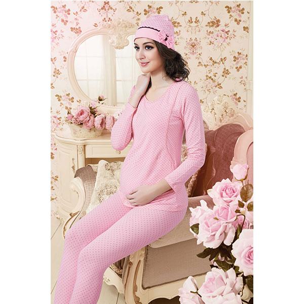 歌瑞妈妈--印花孕妇棉毛裤GM130-002KQ粉XL