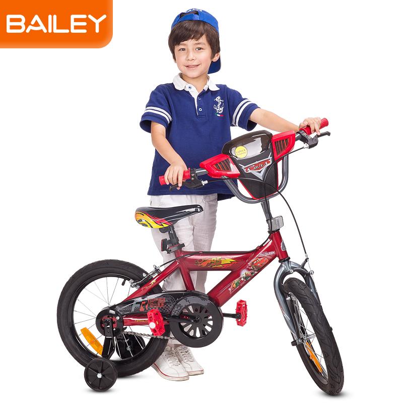 贝乐童车迪士尼系列汽车总动员音乐盒自行车14寸 红色