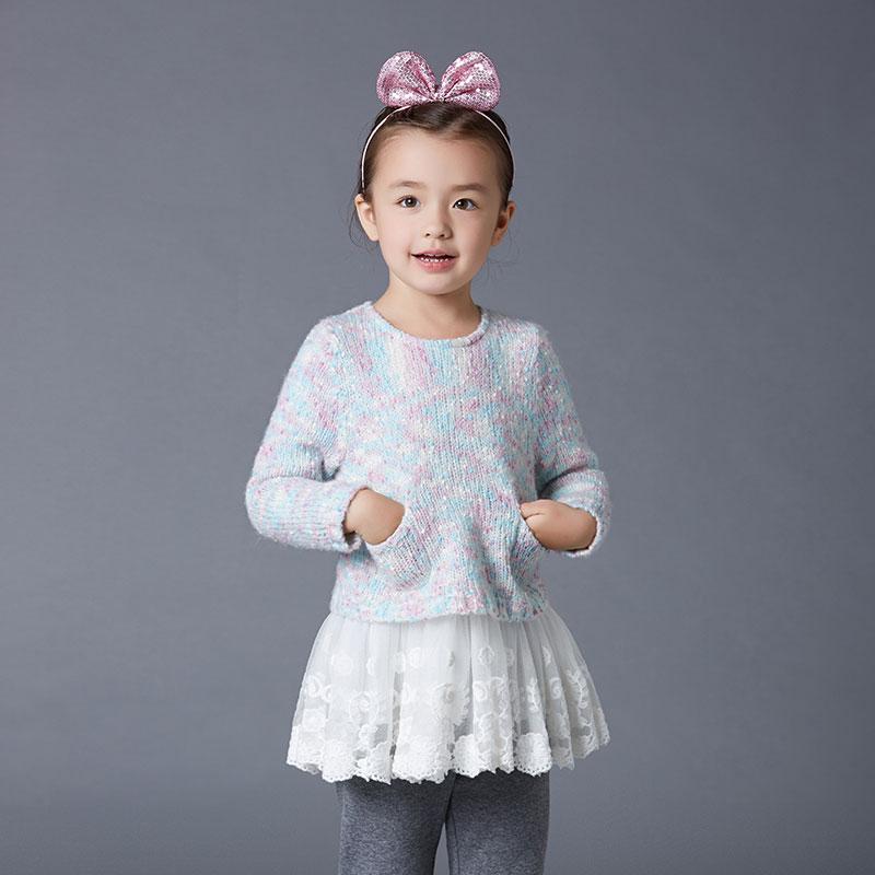 歌瑞家(可爱精灵)女童套头毛衣裙花色