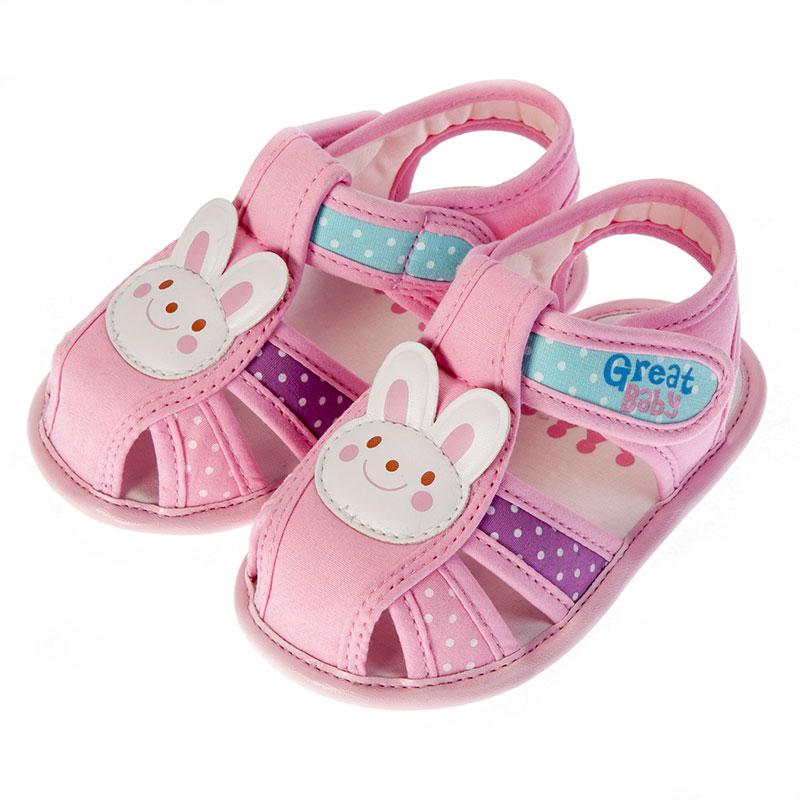歌瑞贝儿女婴小动物凉鞋GB152-020SH粉11cm