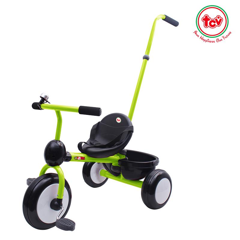 【乐海淘】台湾TCV二合一折叠式儿童滑步三轮车T500 浅绿 海外直邮
