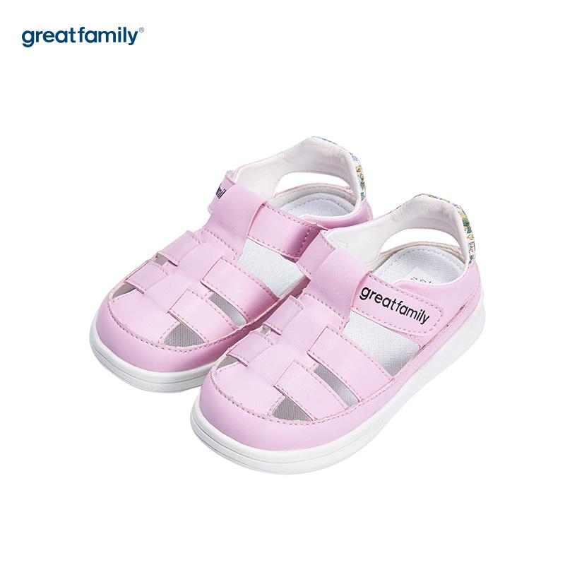 歌瑞家(greatfamily)女婴素色凉鞋GB182-013SH粉13.5CM双