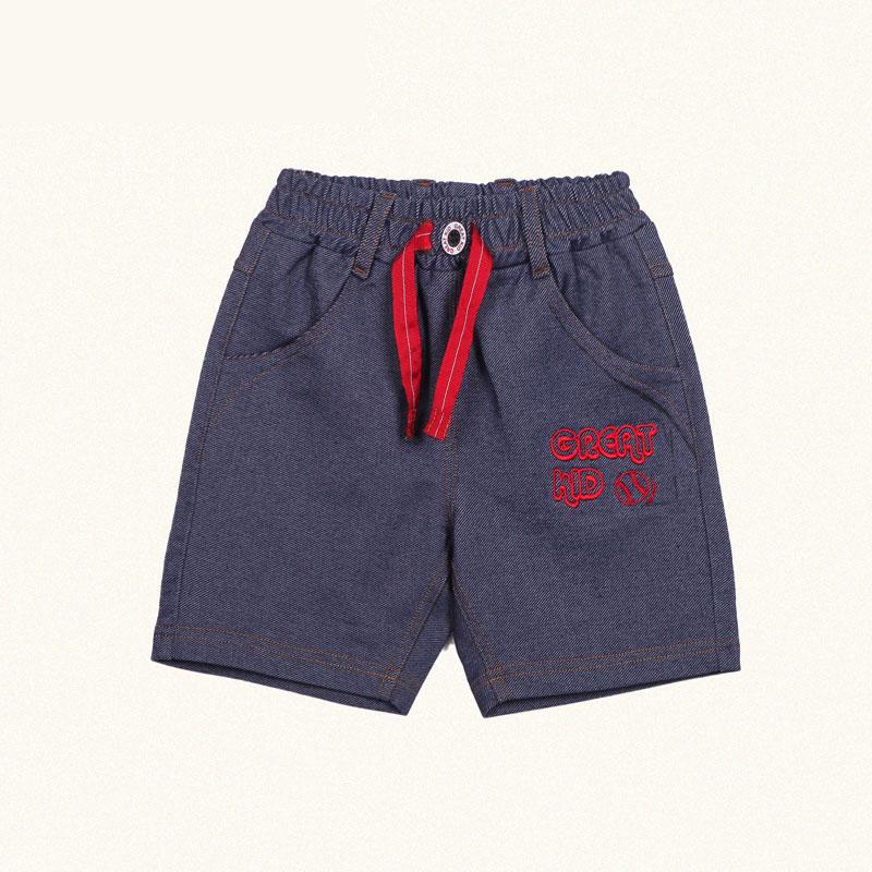 歌瑞凯儿A类男童牛仔色针织牛仔短裤