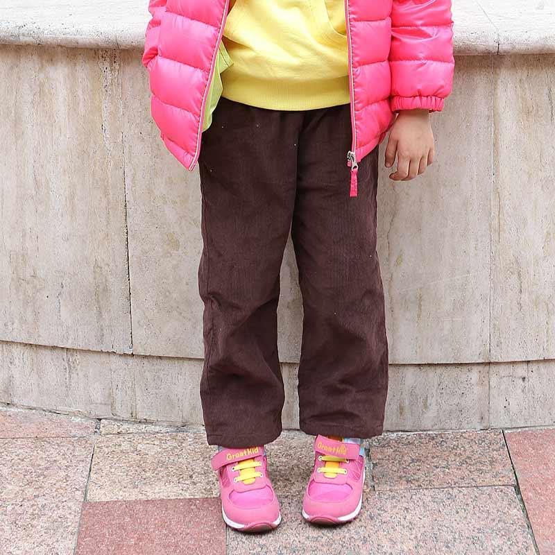 歌瑞家A类女童简洁条绒梭织棉裤两色可选