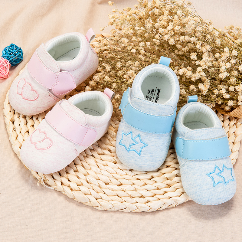 歌瑞家(greatfamily)女婴素色宝宝鞋GB181-001SH粉11CM双